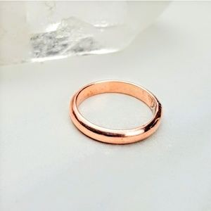 Copper • Simple Band Ring Men Women Thin Dainty